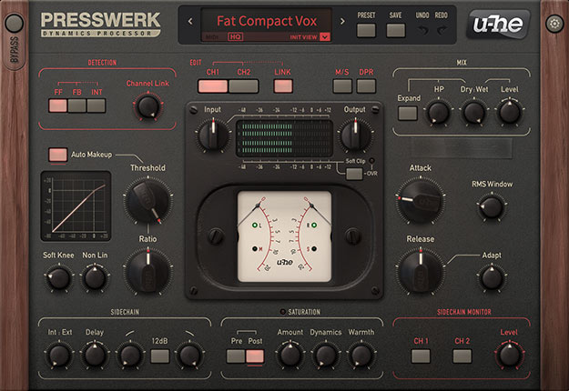 Presswerk 1.0 interface